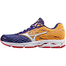 Mizuno Women's Wave Catalyst 2 (W) Running Shoes, Purple (Liberty/White/Orange Pop), 4.5 UK 37 EU