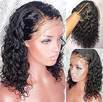 Full Lace Human Hair Short Wigs Curly for