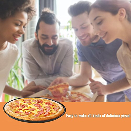 EDOBLUE Nonstick Pizza Pan Carbon Steel Pizza Tray Pie Pans (13inch) by EDOBLUE (Image #2)