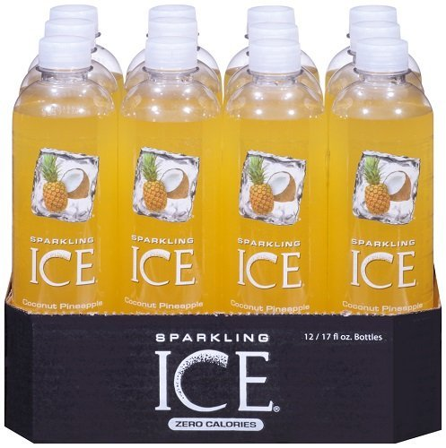 Sparkling ICE Spring Water (Coconut Pineapple, 17 Oz, Pack of 24 Units)