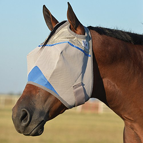 Cashel Crusader Standard Fly Mask with Blue Trim, Benefit Wounded Warriors - Size: Horse by Cashel