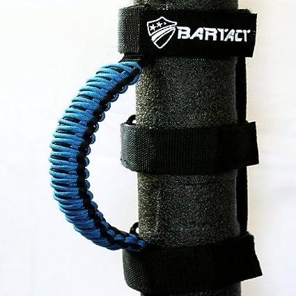 BLACK//ROYAL BLUE Jeep Wrangler JK Rear Side Sound Bar Paracord Grab Handles Bartact TAOGHRPBU - Made in USA PAIR