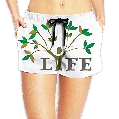 Ficus Tropical Tree (Tree Art Women's Summer Boardshort Casual Shorts)