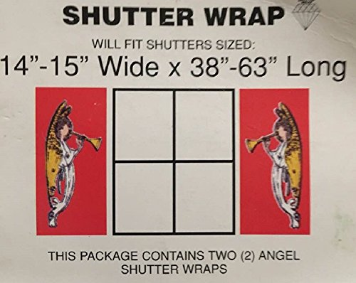 Shutter Wrap (Christmas Angel Home Shutter Wrap Decoration)