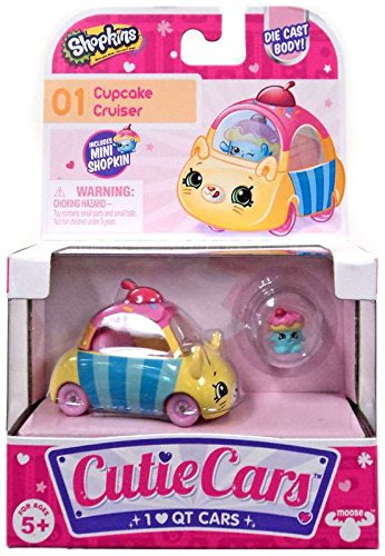 Shopkins Cutie Cars #01 Cupcake Cruiser with Mini Shopkin Exclusive (Cupcake Cutie)
