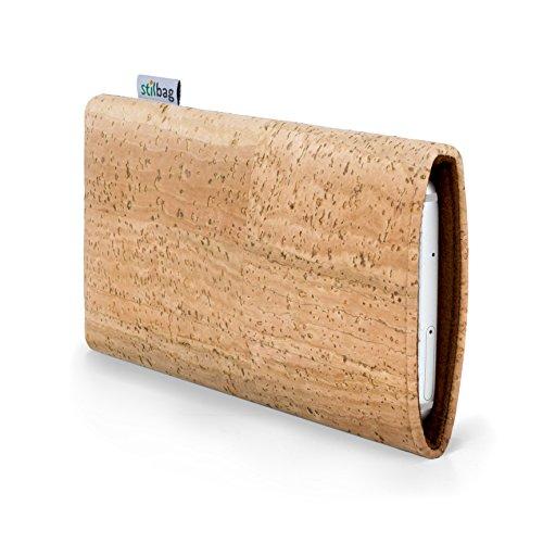 Stilbag Handyhülle VIGO für Apple iPhone 7 plus | Smartphone-Tasche Made in Germany | Kork natur, Wollfilz braun