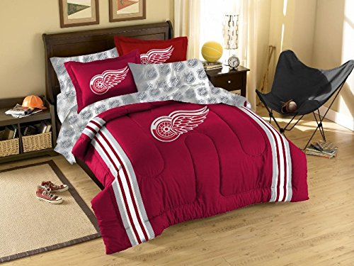NHL Detroit Red Wings Twin/Full Size Comforter with Sham (Detroit Red Wings Sham)