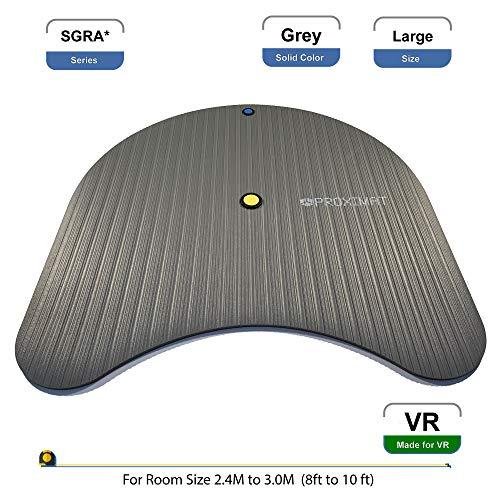 ProxiMat | SGRA* | Grey | Large | Virtual Reality Gamers Advantage Chaperone Safety Mat Large Standing 8