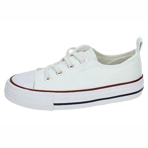 DEMAX 3-A1612A-12 Bambas Lona Blancas NIÑA Zapatillas: Amazon.es: Zapatos y complementos