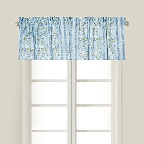 C&F Home Russian Chintz Blue Green Floral Botanical Spring Easter Summer Cotton Bedroom Guestroom Premium Window Valance Set of 2 Valance Set of 2 Russian Chintz Blue