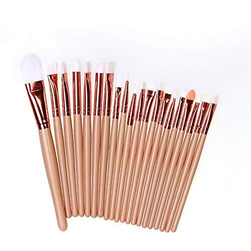 Apricot Wool - Jinjiums makeup brushes,20 pcs Professional Soft Make-up Toiletry Kit Wool Makeup Brush Set Tools Girlfriend Gift (Apricot)