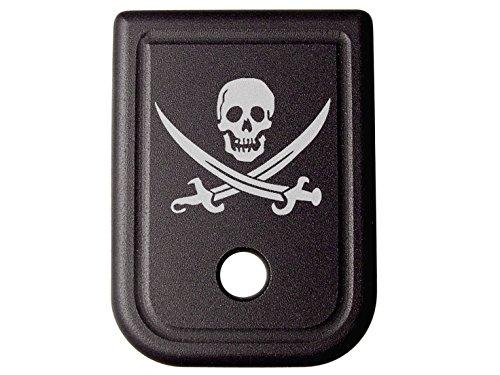 for Glock 9MM .40 Gen 1-5 Floor Base Plate Black NDZ Skull Jolly Roger 2
