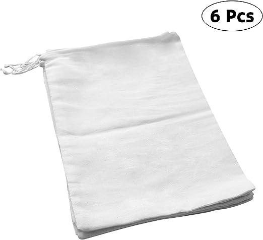 Compra Richaa 6 Paquetes algodón Natural Tela Bolsas, Bolsas de ...