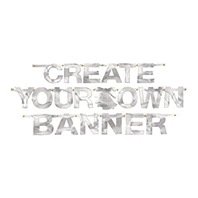 Silver Foil Create-Your-Own Letter Banner: Kitchen & Dining