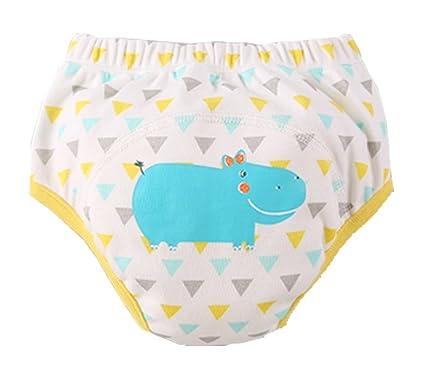 [Hippo] bebé pantalones del entrenamiento del tocador del pañal de la ropa interior del