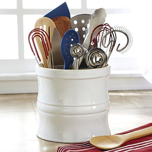 (CHEFS Kitchen Tool Crock, White )