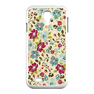 Retro Floral Series Customized Cover Case for SamSung Galaxy S4 I9500,custom phone case ygtg597767