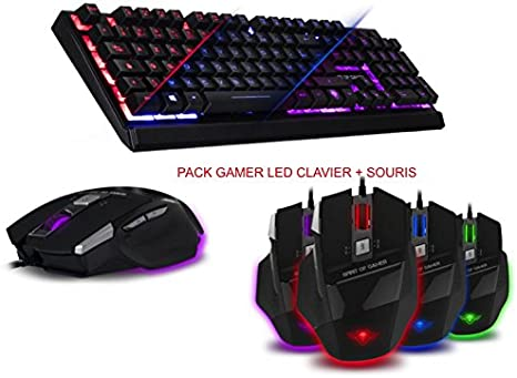 Pack Spirit of Gamer Teclado (retroiluminada, 3 colores teclas ...