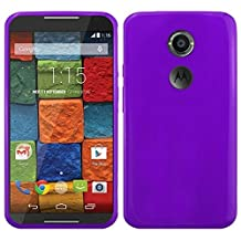 HR Wireless Frosted TPU Case for Motorola Moto X (2nd Gen) -  Retail Packaging  -  Purple