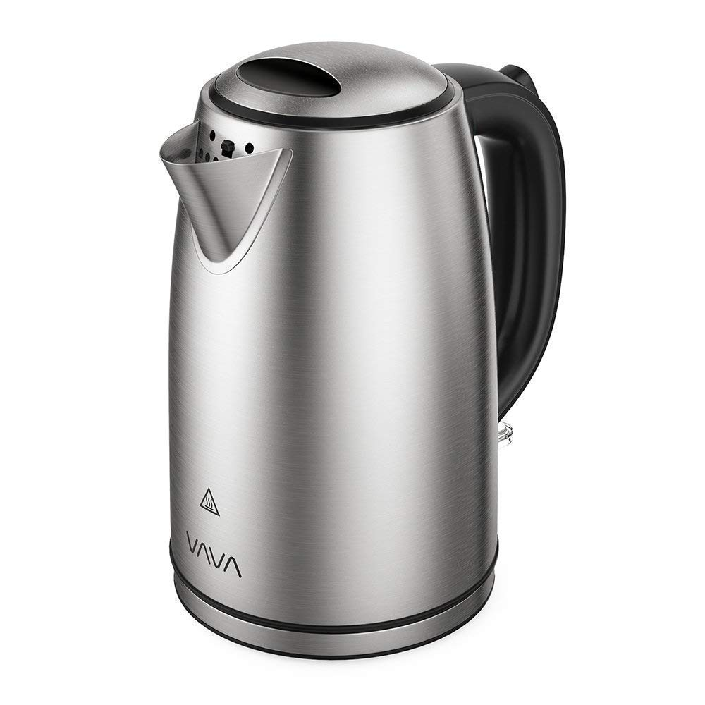VAVA VA-EE010 1.7 L Electric Tea Kettle with British Strix Control, Auto Shut-Off & Boil Dry Protection, 304 Stainless Steel Water Boiler with LED Light Indicator