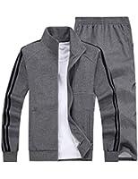 Small-laly Mens Sports Sets Zip Up Jacket & Pants