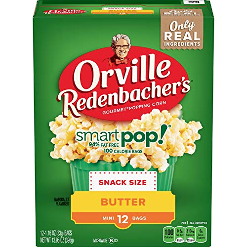 Orville Redenbacher's SmartPop! Butter Microwave Popcorn (Pack of 6) (Mini Microwave Popcorn)