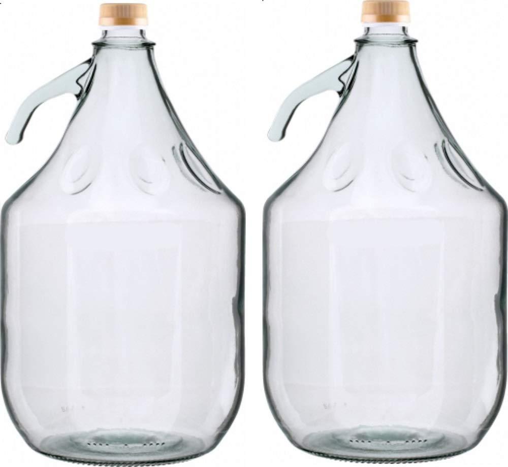 6 Stück 3 L Gärballon Weinballon Glasflasche Glasballon mit Schraubverschluß