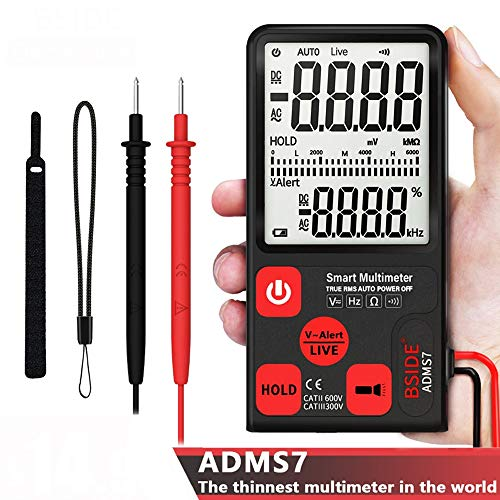 Gtest 2019 Smart Multimeter Voltage Tester, 3.5'' Large LCD Digital 3-Line Display TRMS 6000 Counts DMM with Analog Bargraph