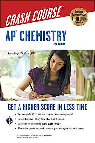 Amazon com: AP® Chemistry Crash Course, 2nd Ed , Book + Online
