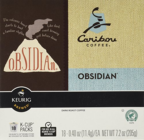 Keurig Green Mountain Caribou Coffee Obsidian Box of 18 K Cups
