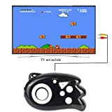 JJFUN Mini TV Handheld Game Console Player for Kids,Connect and Play 89 in 1 Retro Classic Games,Old School Arcade Style Plug & Play Video Games Controller for Children Boys Girls 4-12 Years Old-BLACK