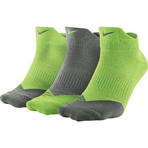 Nike Dri-Fit Lightweight Low-Quarter Men's Training Socks (3 Pair) (Large, Verde (Ag / (Tg) / Tg / (Ag) / Ag / (Tg))
