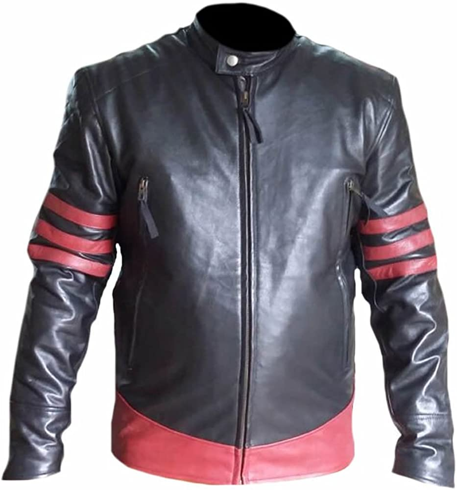Stormwise Mens Fashion Xmen Real Leather Wolverine Jacket