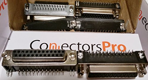 Pc Accessories-Db25 Female Right Angle Pcb Mount Connector, 90 Degree D-Sub 10-PACK Db25 Male D-sub Solder Connector