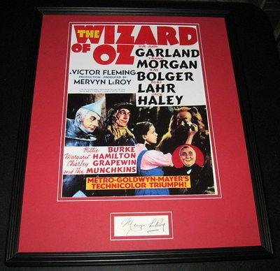 mervyn-leroy-signed-framed-16x20-poster-photo-display-jsa-wizard-of-oz-producer-autographed-nba-phot
