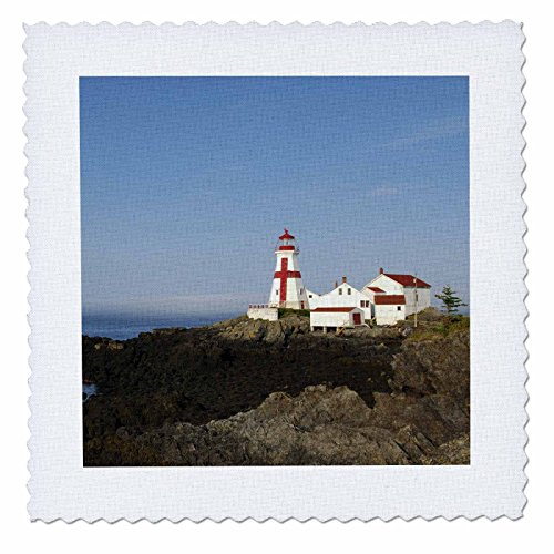 3dRose qs_72986_1 East Quoddy Lighthouse, New Brunswick, Canada-CN04 KRS0001-Keith and Rebecca Snell-Quilt Square, 10 by - Brunswick Square New