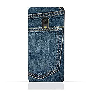 AMC Design Pixi4 5.0 4GTPU Silicone Protective Case with Jeans Pocket Design