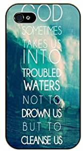 God sometimes takes us into troubled waters, not to drawn us - Bible verse For SamSung Galaxy S5 Mini Case Cover black plastic case / Christian Verses