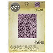 Sizzix 661592 Texture Fades Embossing Folder, Damask by Tim Holtz