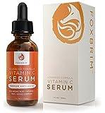 Foxbrim Vitamin C Serum for Face, 1 fl oz. - BEST Anti-Aging Serum - Vegan Hyaluronic Acid & Amino Complex - Premium Face Serum for Beautiful Skin - Natural & Organic - Perfect for All Skin Types - Lasting Results with Amazing Guarantee