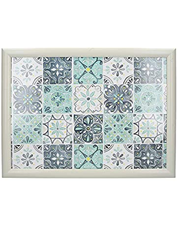 a50810325c24 Creative Tops Cushioned Lap Tray / Lap Tray with Cushion and 'Green Tile'  Design