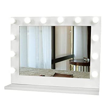 Lighted Vanity Mirror.Gurun Hollywood Lighted Vanity Mirror White Makeup Dressing Table Vanity Set Mirrors With Dimmer