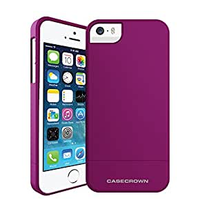 iPhone 5S Case, Perfect Fit & Soft Interior, CaseCrown Lux Glider Case (Purple Amethyst)