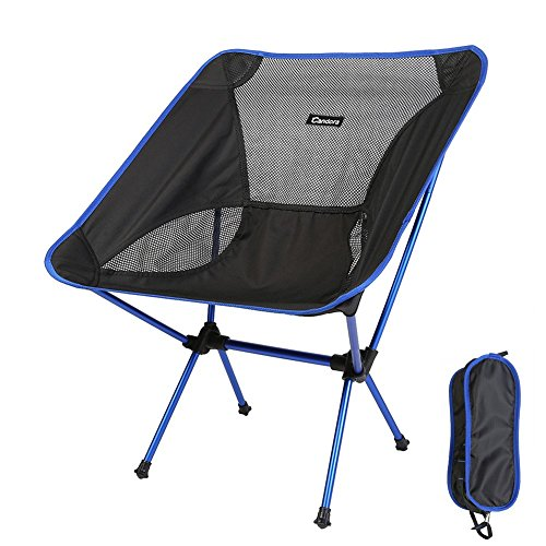 Candora™ Portable Ultralight Folding Chair, with Bag 330lbs Capacity Foldable Seat for Picnic Hiking Fishing Camping Garden BBQ Beach Patio Outdoor & Indoor Activities (Deep Blue)