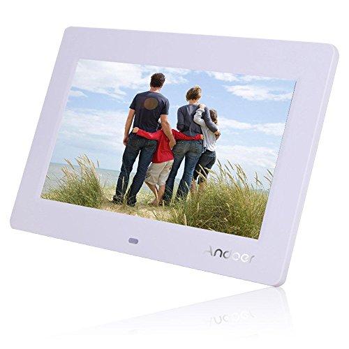 Andoer 8'' HD TFT-LCD Digital Photo Frame Alarm Clock MP3 MP4 Movie Player with Remote Desktop (8' Photo Album Digital)