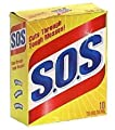 S.O.S 98014 Steel Wool Soap Pad, 10 Count