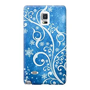 JamieBratt Samsung Galaxy Note 4 Protective Hard Cell-phone Case Custom Lifelike Blue Winter Series [qSz9543rfFl]