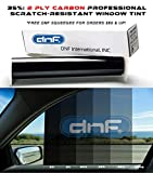 DNF 2 PLY Carbon 35% 36'' X 100 Feet Window Tint Film for Cars + Homes + Commercial Buildings