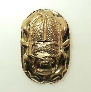 14k Gold Egyptian Scarab Beetle Pendant (14K White Gold)