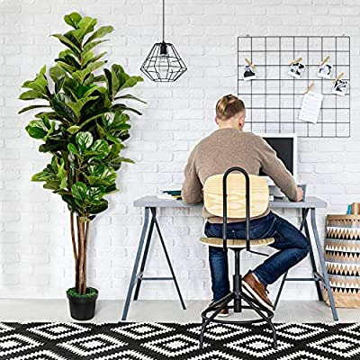 TUSY Fiddle Leaf Fig Tree 6 Feet, Fake Plants Artificial Trees for Home Décor or Office Indoor Outdoor Decoration